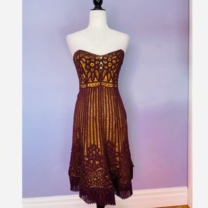 Betsy Johnson vintage strapless lace dress